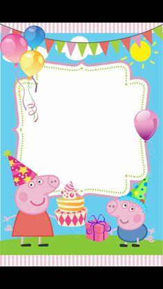 Ariane Carvalho's media content and analytics Peppa Pig Happy Birthday, Peppa Pig Birthday Invitations, Jungle Theme Birthday, Invitacion Peppa Pig, Cumple Peppa Pig, Birthday Picture Banner, Birthday Pictures, Twin First Birthday, Fourth Birthday