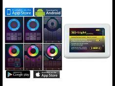 Controlador wifi Mi-Light, para tiras de led  RGBW/RGB http://amiyoledshop.es