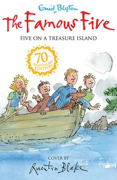 Booktopia has Five On A Treasure Island, The Famous Five Anniversary Edition : Book 1 by Enid Blyton. Buy a discounted Paperback of Five On A Treasure Island online from Australia's leading online bookstore. Leo Lionni, Book Cover Art, Book Cover Design, Book Covers, Album Covers, Roald Dahl Characters, Treasure Island Book, Quentin Blake Illustrations, Enid Blyton Books