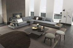 Davis Case sofa by Frigerio Living Room Sofa Design, Living Room Grey, Living Room Interior, Home And Living, Living Room Designs, Living Spaces, Home Interior, Sofa Furniture, Furniture Design