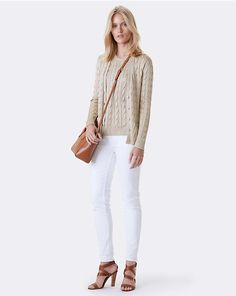 Cable-Knit Silk Cardigan