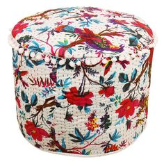 Only Cover Christmas Decorative Chair Cover,100/% Cotton Art Decor Cushion Handicraft-Palace Bohemian Patch Work Ottoman Cover,Traditional Vintage Indian Pouf Floor//Foot Stool 14x22
