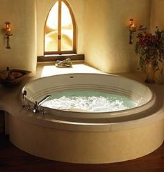 Modern Jacuzzi Tubs For Relaxing- Round Jacuzzi Cortina Whirlpool Tub - Jacuzzi Bathtub, Luxury Bathtub, Bathtubs, Jetted Tub, Luxury Bathrooms, Drop In Tub, Bathtub Remodel, Whirlpool Tub, Architecture