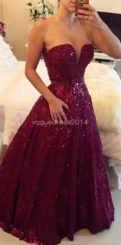 Gorgeous Sweetheart Beadings A-Line Sleeveless Prom Dress Shinning Floor Length Evening Gowns,Prom Dress long #promdress jαɢlαdy