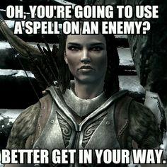 Skyrim logic funny meme