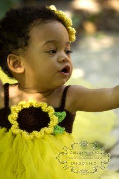 Baby Girl Sunflower Tutu Dress