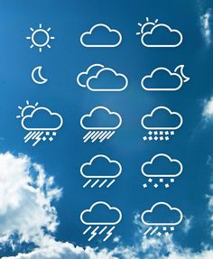 How To Create a Set of Vector Weather Line Icons