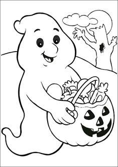 Halloween Ausmalbilder Kürbis Geist