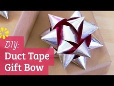 ▶ How to Make a Duct Tape Gift Bow - YouTube