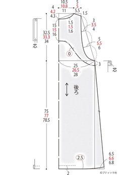 簡単!Vネックラインのジャンパースカートの作り方|ぬくもり Pattern Cutting, Pattern Making, Baby Patterns, Sewing Patterns, Sewing Collars, Sewing Clothes Women, Dress Making Patterns, Japanese Patterns, Pants Pattern