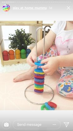 Color matching plus fine motor skills with popsicle sticks color fine matching motor popsicle skills sticks Montessori Toddler, Young Toddler Activities, Toddler Play, Montessori Activities, Infant Activities, Activities For Kids, Montessori Bedroom, Indoor Activities, Baby Sensory Play
