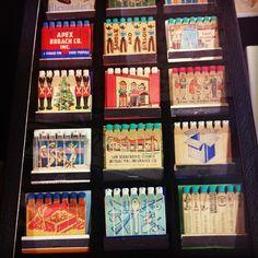 Vintage matchbooks from Garage Flea Mkt in NYC #vintage #matchbooks #TheGarage - @sgdavis55- #webstagram