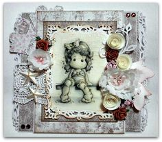 Anything goes at # 44 Marvelous Magnolia Challenge - Magnolia cards by Barbara GR