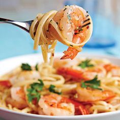 Easy Pasta Recipes: Shrimp Scampi Linguine - 60 Best Shrimp Recipes - Coastal…