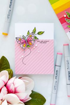 Simon Says Stamp | Beautiful Day Card Kit - Colorful Butterfly Cards. Handmade cards by Yana Smakula