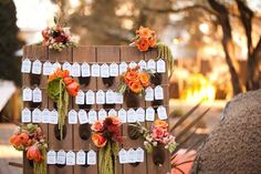 [ Creative Wedding Reception Ideas Escort Cards Display Onewed 19 ] - Best Free Home Design Idea & Inspiration Wedding Reception Food, Wedding Seating, Wedding Table, Fall Wedding, Rustic Wedding, Reception Ideas, Wedding Fun, Wedding Blog, Dream Wedding