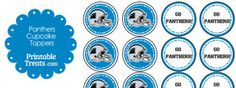 Are the Tennessee Titans your favorite NFL team? If so, you'll love these Tennessee Titans cupcake toppers you can print and pop on top of cupcakes and party food picks. These Tennessee Free Printable Stationery, Free Printables, Batgirl Party, Tennessee Titans, Carolina Panthers, Cupcake Toppers, Paper Dolls, First Birthdays, Birthday Parties