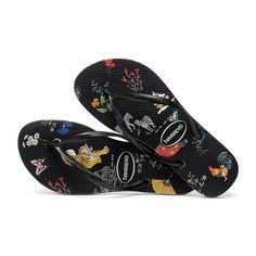 3aa9cca3e706 Slim Animal Print Flip Flops - Women s Black Flip Flops