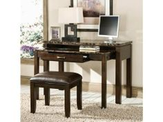 Bella Desk with Power Plug by Standard Furniture by Standard Furniture. $482.64. Roller side drawer guides provide ease and convenience. Faux marble travertine tops on select pieces. Desk/entertainment combo w/power plug. Wood veneers solids composition. Create an efficient and sophisticated office space with this Bella Desk Entertainment Combination with Power Plug Faux Marble Top - Standard Furniture. Multifunctional, this desk features a concealed, embedded drawer and tab...