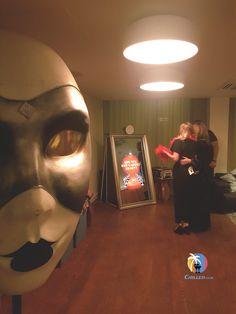 Giant Masquerade Face Prop Hire | Masked Ball Theme Ideas | #masqueradeball #maskedball #partyideas  #partyprops #eventprofs #magicmirror #photobooth #selfiemirror #themedparty #eventdecor #eventdesign  #eventspace #EventIdeas