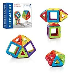 Use the squares and triangles to build your own solar creation and watch it spin! GEOSMART™ Solar Spinner includes 23 strong, bright geometric pieces, with a spinner to bring life to you kids' creations. Garden Spinners, Wind Spinners, Vintage Airplanes, Creative Play, Build Your Own, Building Toys, Fun Learning, Decorative Accessories, Magnets