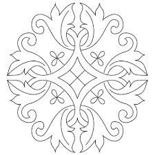 Embroidery Design: Motif Suitable for Goldwork - / -Free Hand Embroidery Design: Motif Suitable for Goldwork - / - Digital Quilting Design Celtic Snowflake Medallion by Sherry Rogers-Harrison. Lotus Mandala coloring page Brazilian Embroidery Stitches, Crewel Embroidery Kits, Hand Embroidery Designs, Vintage Embroidery, Ribbon Embroidery, Embroidery Patterns, Embroidery Books, Embroidery Alphabet, Embroidery Tattoo
