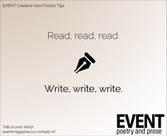#nonfiction #WritingTips : Read, read, read. Write, write, write. #sorry