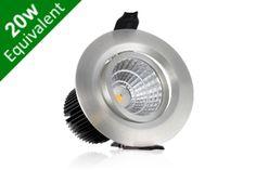 Buy Adjustable Downlight 4.5W (20W) 54mm Silver LED