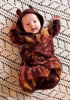 Tie Dye Baby Bear  Bunting in Rich Browns  by inspiringcolor, $22.10