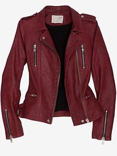 Oxblood moto jacket