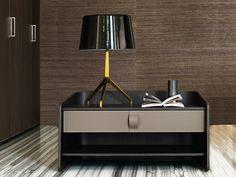 Rectangular leather bedside table GENTLEMAN | Bedside table - Flou