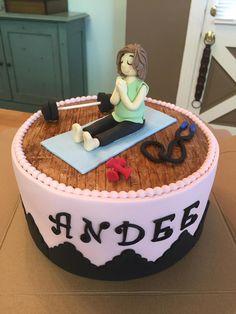 Exercise theme birthday cake