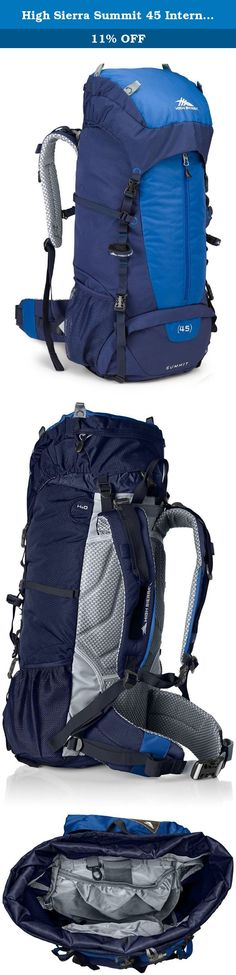 High Sierra Summit 45 Internal Frame Pack, True Navy/Royal/True Navy. High Sierra designs feature-rich, versatile adventure High Sierra designs feature-rich, versatile adventure lifestyle gear for adventurers everywhere. Since our founding in 1978, we've committed ourselves to creating durable, affordable product with distinctive details, delivering the freedom to go anywhere-near or far, on roads or trails, on mountain ridges or snowy slopes, no matter what form your adventure takes…