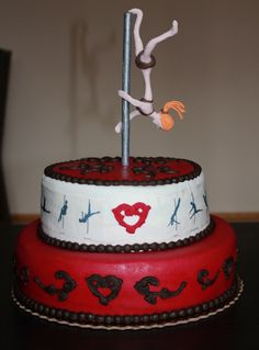 pole dance cake --- extended butterfly