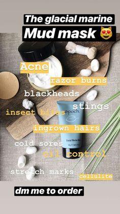 Message if you'd like to order! Marine Mud Mask, Glacial Marine Mud, Razor Burns, Nu Skin, Epoch, Ingrown Hair, Skin Products, Stretch Marks, Beauty Secrets