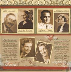 scrapbook layout - family tree