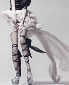 idreamofaworldofcouture:  'Tough Ballerina'Freja Beha Erichsen photographed by Craig McDean for Interview April 2010