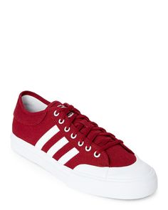 quality design 2d909 b8493 Adidas Burgundy   White Matchcourt Low Top Sneakers Trainers Adidas,  Sneakers Adidas, Red Sneakers