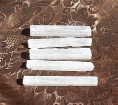 Three inch rough unpolished natural Selenite by HigherVibrationCo