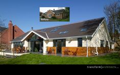 Bungalow makeover - although don't like the half cladding. All or nothing! http://media-cache-ak0.pinimg.com/736x/23/1c/95/231c954c28b0e2d65aaef89da4d227d8.jpg