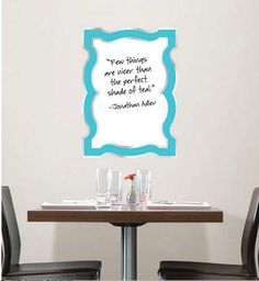 I need this Jonathan Adler Baroque Blue Dry-Erase Board!!! so chic!
