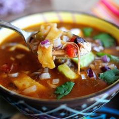 Tortilla Soup courtesy of The Pioneer Woman Recipe | Key Ingredient