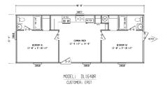 bunkhouse plans | Bunk House 16x40R