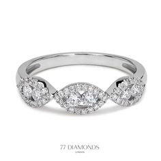 Malika -  enchanting #diamond eternity ring with beautiful details