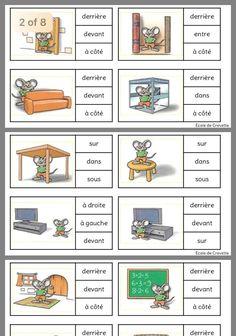 Prepositions - We publish good gifts idea Study French, French Kids, Core French, Learn French, French Language Lessons, French Language Learning, French Lessons, Spanish Lessons, French Basics