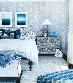 moroccan bedroom blue