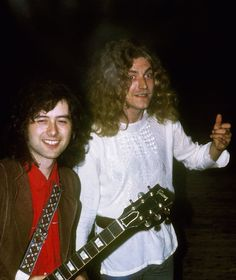 Jimmy Page and Robert Plant of Led Zeppelin #JimmyPage #RobertPlant #LedZeppelin…