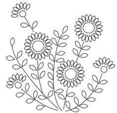 Hand Embroidery Patterns Free Printables | Click on the image for a larger size and just a reminder this is what ...