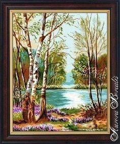 Озеро с березами (№2368) - Пейзажи, здания - Aurora Borealis