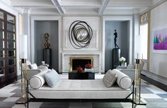 LuxDeco Style Guide- Vey stylish living area- Artemest